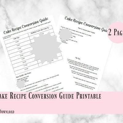 Cake Conversion Guide