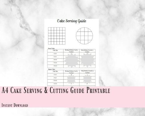 Cake Serving Cutting Guide