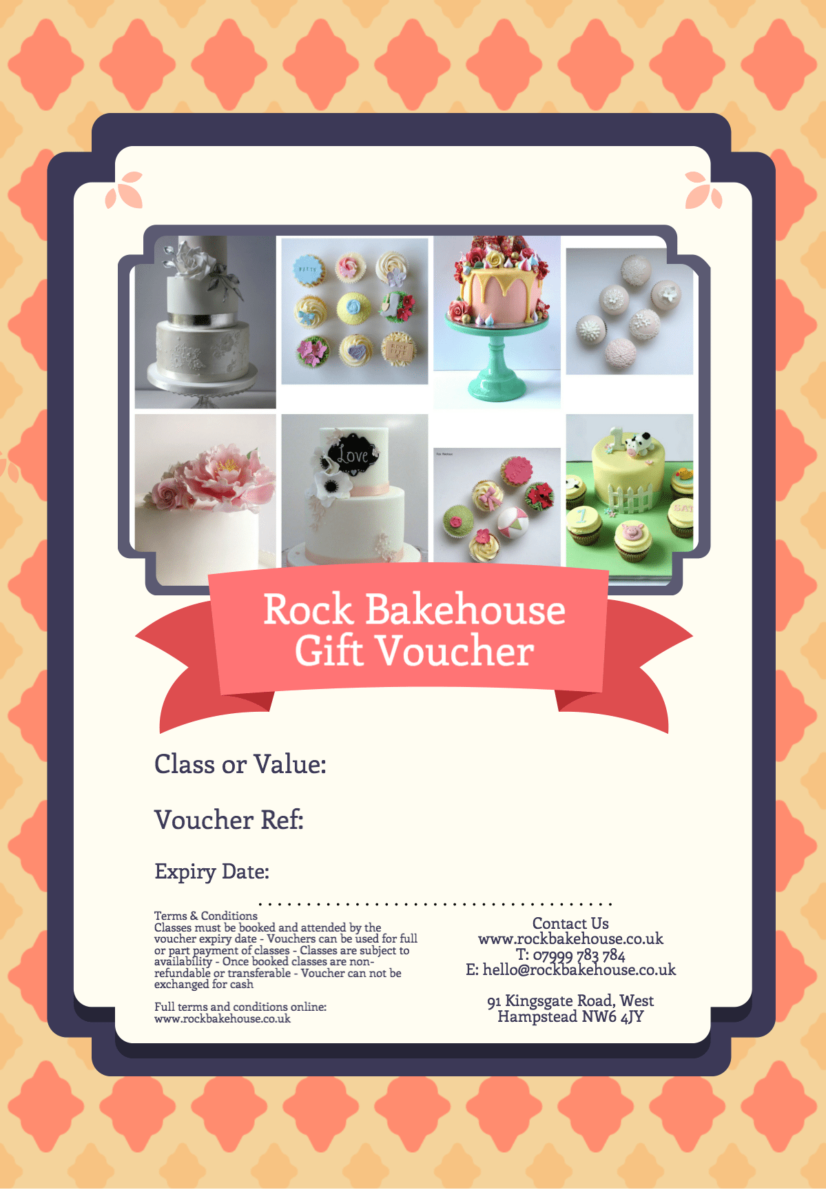 Cake Decorating Gifts Uk : Gift Voucher ?50 Rock Bakehouse