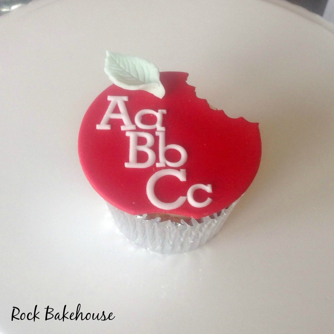 Teacher Thank You Apple Cupcake Topper