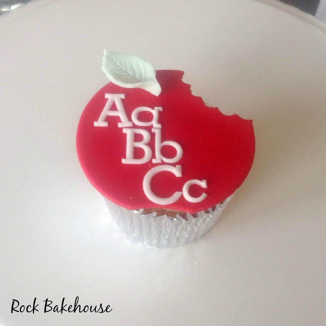 Teacher Thank You Apple Cupcake Topper