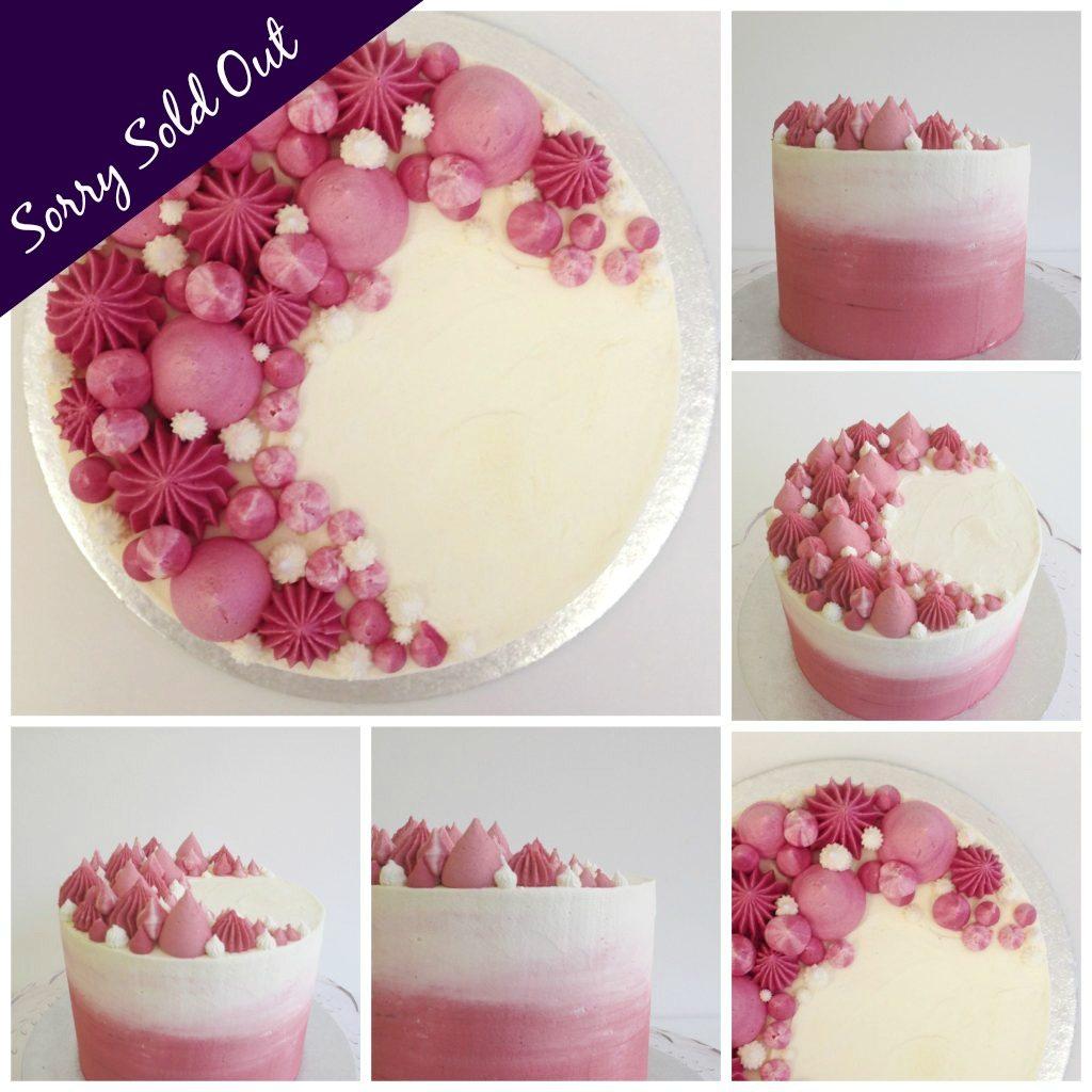 Sharper Edge Cake Decorating Kit : Ombre Sharp Edge Buttercream Cake ?55 Rock Bakehouse