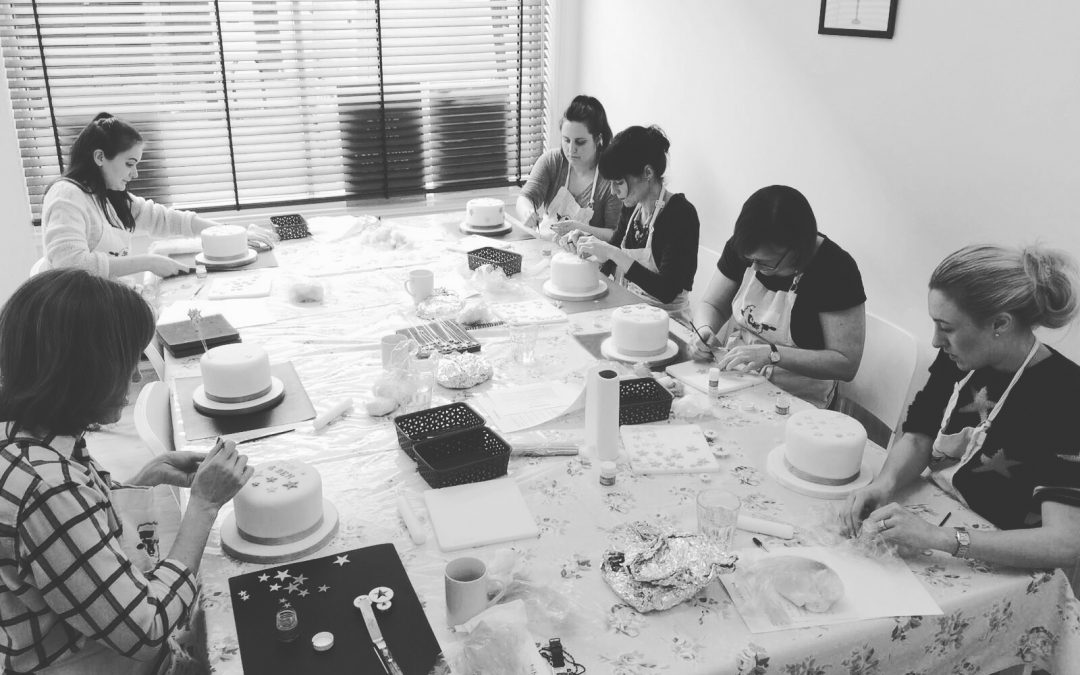 Celebration Cake Class In Action