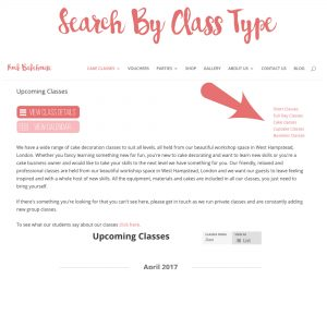 Search By Class Type Cake Classes London